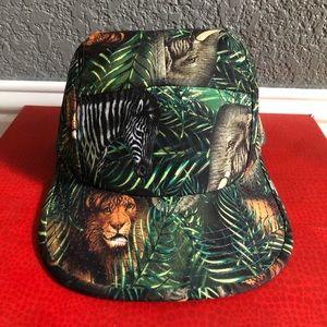 Animal print snapback hat